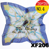 Silk Scarf Face Cloth Chiffon Bright- Coloured Blue New Arriv...