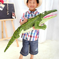 Wholesale Real funny scary animal toys meters large sea simulation plush toys pillow Crocodile Park