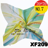 Silk Scarf Face Cloth Chiffon Bright- colored Green New Arriv...