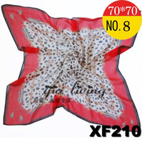 Silk Scarf Face Cloth Chiffon Leopard Grain Red New Arrivals...