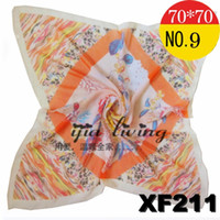 Silk Scarf Face Cloth Chiffon Gorgeous Light Red New Arrival...