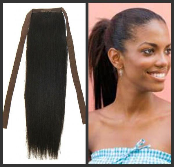 Clip In Hair Extensions Ponytail Human Hair Triple Weft Hair