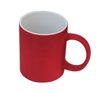 Wholesale 11oz matt Color changing Promotional Mug coated cup photo mug sublimation mug withTransfer Print