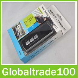 Wholesale Best Car Styling Bluetooth Handsfree Kit Multipoint Speakerphone V3 Sun Visor Clip Free DHL Shipping