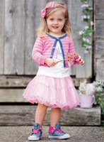Wholesale 2012 Girls Clothing Set Pink Striped Jacket T shirts Tutu Skirt dress shoes design Baby Clothes