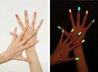 as the picture Nail Polish Luminous Fashion NEW Luminous Nail Art Polish Varnish Glow in the Dark Nail Polish Lacquer 20colors