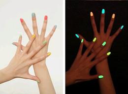 Wholesale Fashion NEW Luminous Nail Art Polish Varnish Glow in the Dark Nail Polish Lacquer colors