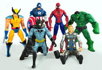 Wholesale The Avengers Captain America Wolverine Thor Spiderman Batman Action Figures Toy PVC Figure Toys CM