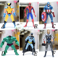 Wholesale The Avengers Set of Marvel Hero Captain Iron Man the Hulk quot Action Figure Doll Toys Movie Cartoon