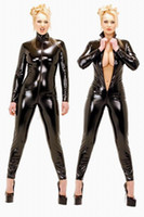 Zentai / Catsuit Costumes catsuit - Sexy Latex Vinyl PVC Wet Look Catsuit Costume Zipper F033