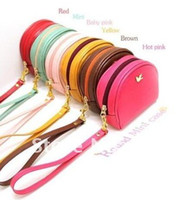 Wholesale 2012 New Arrival Fashion wristlet Key bag makeup bag carry bag with strap key ring accessories