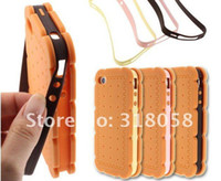 Wholesale New Arrival Design sandwich Biscuit Style Silicone cookies case For iPhone S with retail package