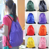 Wholesale NEW quot x15 quot String Bags Drawstring Backpack Tote School Bag Bookbags Sport Pack bags