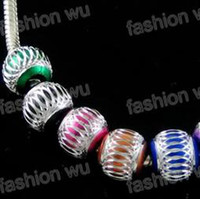 bead bracelet patterns - Pc Mixed Color Aluminium Ripple Pattern Big Hole Beads mm Fit Bracelet Jewelry Findings Components Jewelry DIY