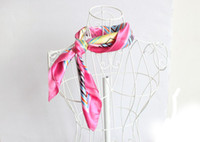 Wholesale New Woman Satin Silk Elegant Square Scarf Shawl for bank hotel