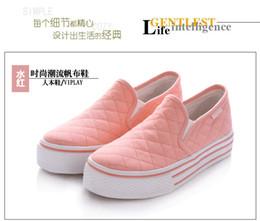 buy dance sneaker pink - PINK Fashion RENBEN Woman's FITNESS SHOES Flat Sneaker Sport Shoes Leisure Canvas Dance Shos