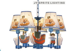 Wholesale and retail creative brief American pirate ship lights 5L pendant children room lighting