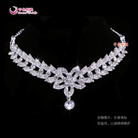 Wholesale Hot sale Fashion Crystals Rhodium Plated Bridal Tiara DFW Bridal Accessories Crown Hair Model D