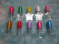 Transparent Nail Polish Cap with Brush Factory Supplier Motley Empty Plastic Nail Polish Bottle Nail Polish Container Bottle 5ml Add Trade