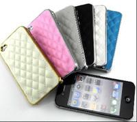 Cas pour l'iPhone 4S de téléphone portable pour iPhone 4 Fashion Designer Luxury Design Retour Couvrir et Leathe