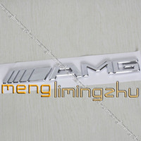 Wholesale 200pcs D AMG Chrome Sticker Emblem D Car Badges mmX20mm