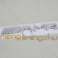 car badge - 200pcs D AMG Chrome Sticker Emblem D Car Badges mmX20mm