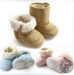 Wholesale New arrival Baby s shoes chamois snow boots prewalker lint Shoes anti skidding shoes free sh