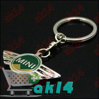 Wholesale 200pcs Zine Alloy Car Key Chain Ring Key Chains With Car Logo Badges Mix Order For MINI AK14