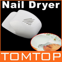 Wholesale New Professional Portable Finger amp Toe Fast Nail dryer nail art tips Polish gel Dryer Blower H8836