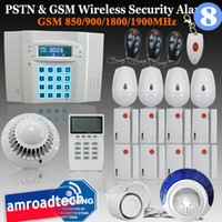 Wholesale LCD Zones PSTN Landline and GSM Network Wireless Home Security Burglar Alarm System iHome328MG8