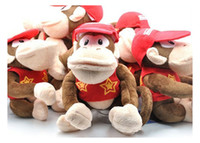 Wholesale super mario gorilla dolls with red hat monkey plush toys games children s gifts inches