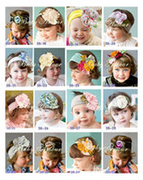 Wholesale BABY AMOUR flower cotton Headband Baby head band Colorful Baby hairband Headbands styles