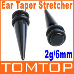 Wholesale 100 pairs Magnetic Fake Cheater Ear Expander Taper Plug Earrings Stretcher g mm Body Jewelry H8673