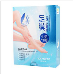 Wholesale Rolanjona Crystal foot mask Exfoliating scrub mask Foot mask sox Foot care sticker health care