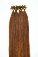"brown straight 1.0g Wholesale - 500S 18"" -24""Pre Keratin Flat-Tipped Human Hair Extensions #6 light brown ,1g s 100g set"