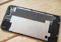 Wholesale Back Glass Battery Cover Back Housing Black and White GSM for iphone S