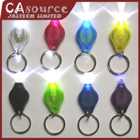 Wholesale 5pcs Mini LED Light White Light mcd Torch Colorful Key Keychain Fashion Flashlight Keychain