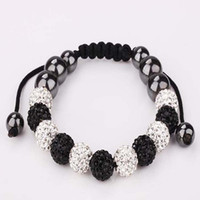Wholesale New Style Fashion mm Crystal Pave Clay Disco Ball Crystal Beads Beads Macrame Bracelet