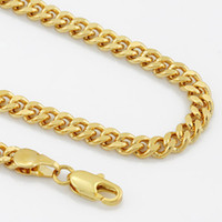 Wholesale 4MM MENS Boys K Gold Filled Curb Necklace Chain Gift GN32