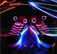 Wholesale pairs LED Light Up Flash Glowing Shoelaces Disco Strap Stick Shoestrings