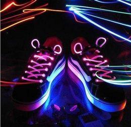 Wholesale pairs LED Light Up Flash Glowing Shoelaces Disco Strap Stick Shoestrings