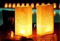 Wholesale HOT SALE INDOOR OUTDOOR CANDLE SAFE LANTERN PAPER TEALIGHT GARDEN BAGS TEA LIGHT WEDDING