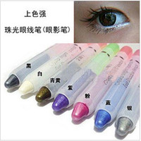 Wholesale Pencil Pearl eye shadow pen eyebrow pencil eyeliner shimmer eyeshadow pen