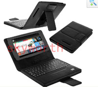Wholesale Wireless Bluetooth Keyboard Leather Case holster For Google Nexus Android Tablet PC
