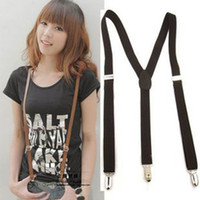 Wholesale New Mens Womens fashion clothing Accessories Elastic Clip Braces Strap Suspenders