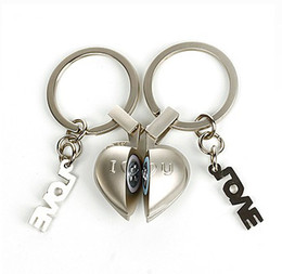 Free shipping 2017 new half heart sound Keychain