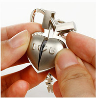 Wholesale 2012 new half heart sound Keychain two hearts together namely said I LOVE YOU