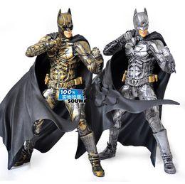 Wholesale New In Deluxe Box Sliver Golden quot Batman Dark Knight Rises PVC Figure Movie Version Toys