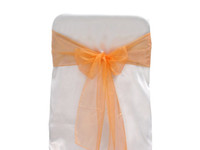 Wholesale New Wedding Organza Chair Cover Sashes Bow Sash Party Decor