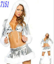 Wholesale Sexy Christmas Costumes Skirt Cami Sets Sexy Women Lingerie Sexy Trendy Clothing Cosplay set